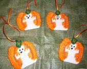 Ghostly Pumpkin Ornament