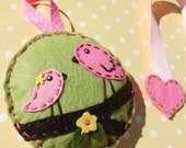 Birds on a branch felt hair bow holder, M2M Pottery Barn Penelope Birds Bedding ON SALE