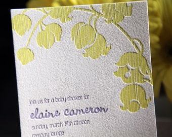 Custom Letterpress Shower Invitation