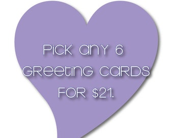 Pick Any 6 Letterpress Cards