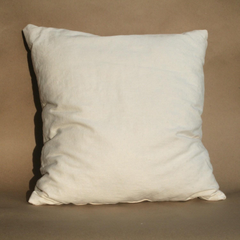 Kapok Pillow Insert Organic Cotton Shell 16 inches Soft