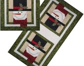 TTY January Applique Table Runner Pattern with Free Hillcreek Buttons & Free Shipping Included