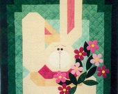 My Bunny Quilt Pattern (2 sizes included) with Free Buttons and Free Shipping