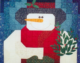 My Snowman Quilt Pattern With FREE Buttons & Free shipping Included
