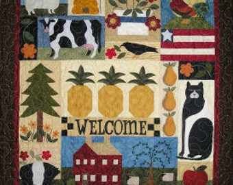 American Folk Art Series of 6 Quilt Patterns with Free Shipping
