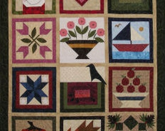 Stars And Stripes Log Cabin Quilt Pattern By