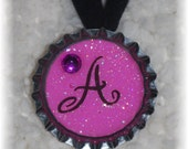 Pink Sparkly Initial Choker