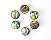 6 Magnets // Frutas Frescas // Mexican Loteria Magnet Set // Fresh Fruit