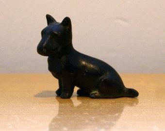 Solid Metal Scottish Terrier Figurine - Vintage