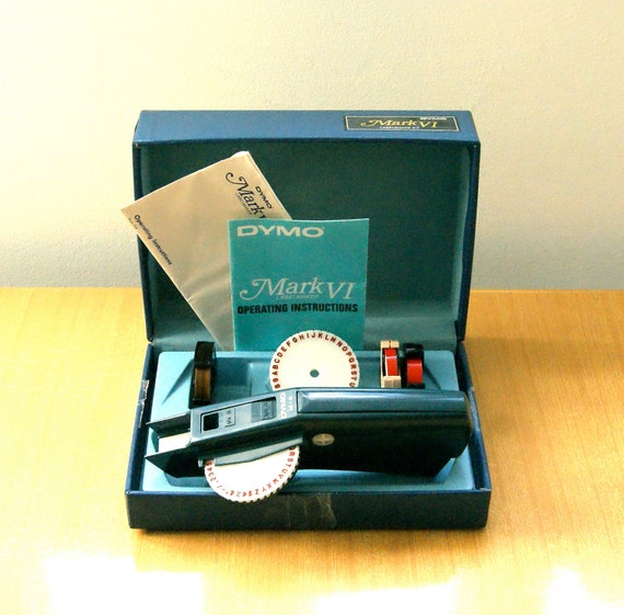 Label Maker Kit with Woodgrain Tape - Vintage