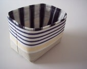 mini fabric bin in nautical stripes