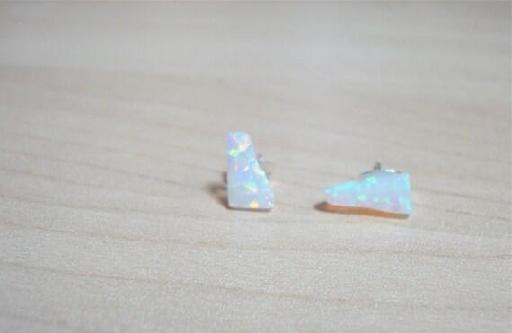 upala - white opal earrings - OOAK