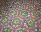 84 x 90 Grandmothers Flower Garden Quilt Top