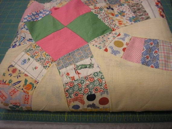 90 x 90 Double Wedding Ring Quilt Top