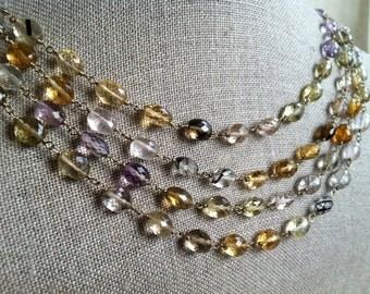 5-Strand Gemstone Collar