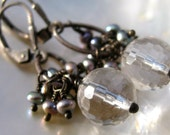 Rock Crystal with Pearls Earrings