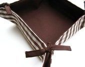 Reversible cotton tray - Check / Choco MADE TO ORDER