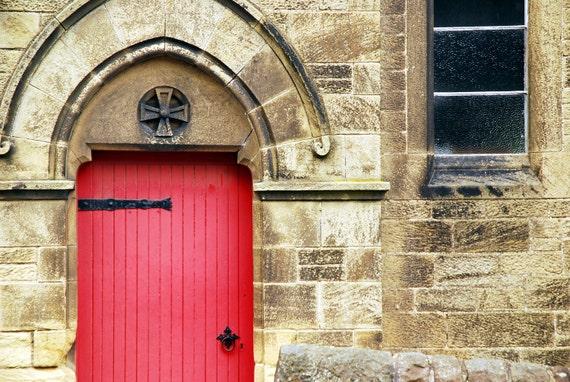 I See a Red Door, Fine Art Print, Scotland