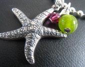 Custom Colors - Bright Sea Star Necklace