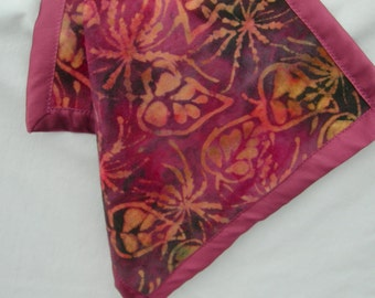 Comfort Silky for Baby Girl - Amethyst Batik Flannel and Satin