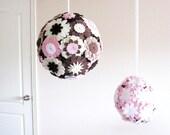 Felt Flower Pomander Kissing Balls - Set of 2 - Neapolitan