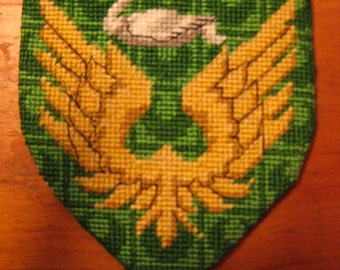 Heraldic badge - needlepoint - elizabethan slip embroidery -custom order