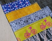 Stacked and Stitched Tote - Anchors and Bikes - FREE SHIPPING