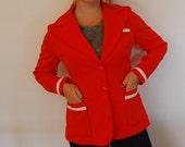 My Darling Clementine Blazer- Bright Orange Jacket by Sears- Medium