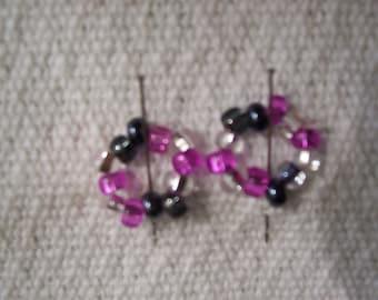 Pink and Gray Nipple Ring Set - So Sweet-Mature