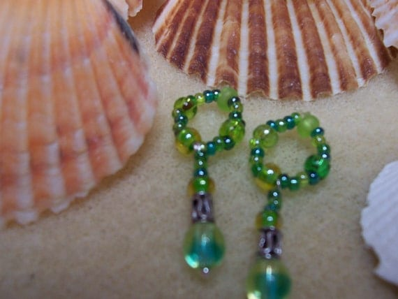 Colors of the Sea... DANGLY NIPPLE CHARMS-