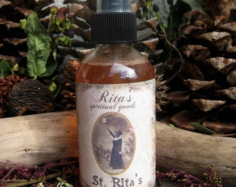 St. Rita's Spiritual Mist Spray - Help with your Impossible Wishes and Causes - Hoodoo, Witchcraft, Pagan