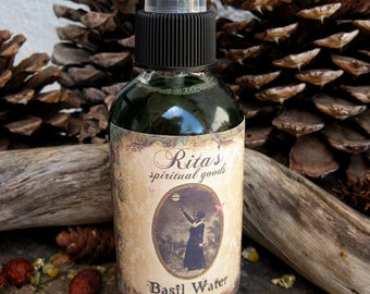 Rita's Basil Water Spiritual Mist Spray - Pagan, Magic, Hoodoo, Witchcraft, Juju