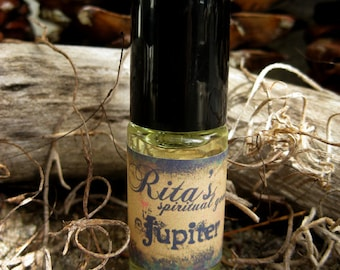 Rita's Jupiter Ritual Hand Brewed Oil - Expansion, Self Improvement, Success - Pagan, Magic, Hoodoo, Witchcraft