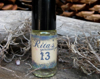Rita's 13 Ritual Perfume Oil - 13 Luck Drawing, Hexe Breaking Ingredients - Pagan, Magic, Hoodoo, Witchcraft