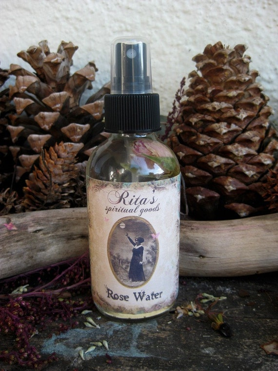 Rita's Rosewater Aura Cleansing Spiritual Mist Spray - Hoodoo, Pagan, Witchcraft, Magic, Juju