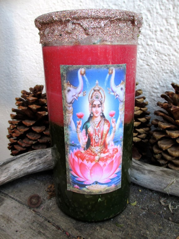 Rita's Lakshmi Goddess of Fortune 14 Day Ritual Candle - RESERVED for Giovanna Wealth, wisdom, prosperity, material and spiritual