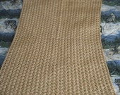 Small Buff Hand Crocheted Shells Afghan, Blanket, Throw - Home Decor