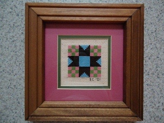 Star Quilt - Cross Stitch Picture - Wall Decor