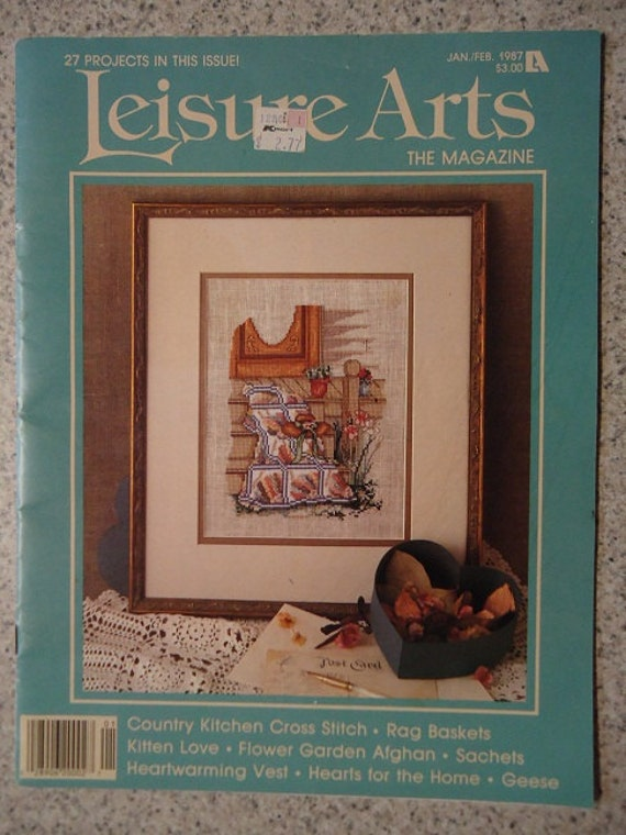 1987 leisure arts craft magazine. Black Bedroom Furniture Sets. Home Design Ideas