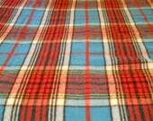 Vintage Mid Century Wool Tartan Blanket by Horner