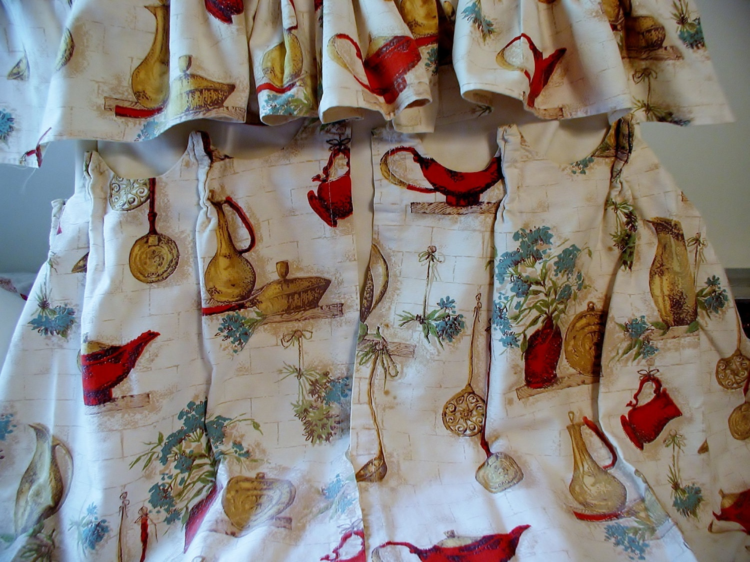 Vintage 1960s Kitchen Curtains And Valances