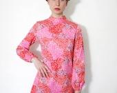 Vintage dress / first date 60s mod mini / size S