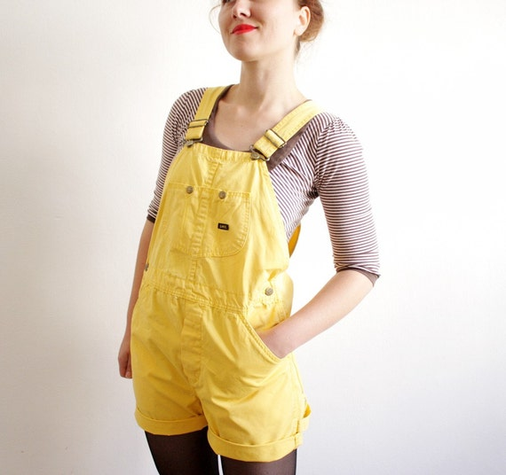 Vintage lemon lee overall Shorts (s, m)