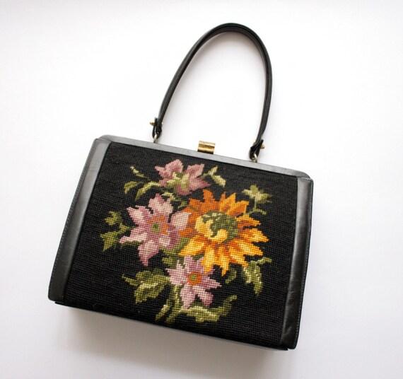 Vintage needlepoint handbag.