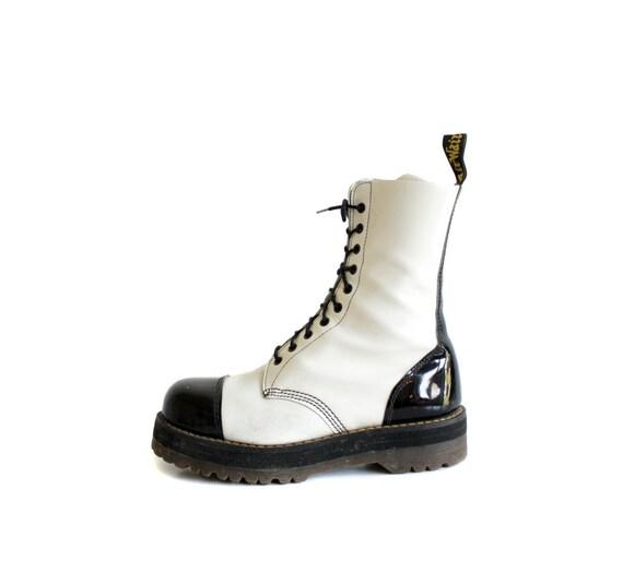 Vintage boots / black and white Doc Martens / uk 9 us 9.5 eur 43.5