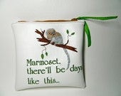 Marmoset there'll be days like this vinyl pouch