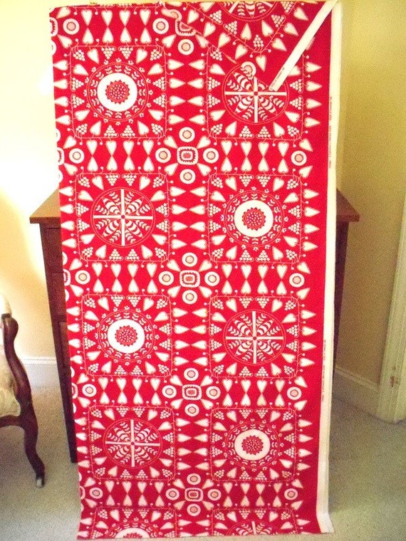 Designer IKEA from Sweden Red and White Fabric