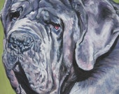 Neapolitan Mastiff art print CANVAS print of LA Shepard painting 11x14
