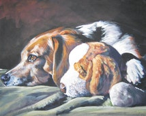 Unique Stuffed Hound Dog Related Items Etsy
