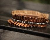 Natural Hair Accessories Headband Copper Satin Ruffle